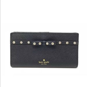 Kate Spade Stacy Laurel Way Jeweled Leather Wallet